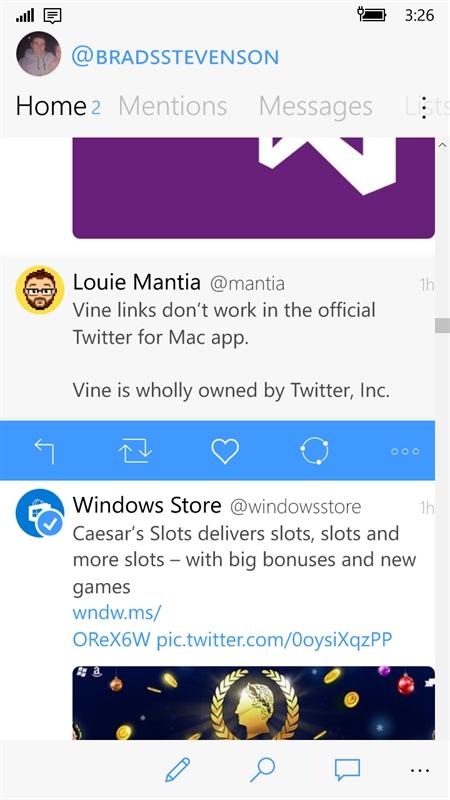 twitter app for windows phone 6