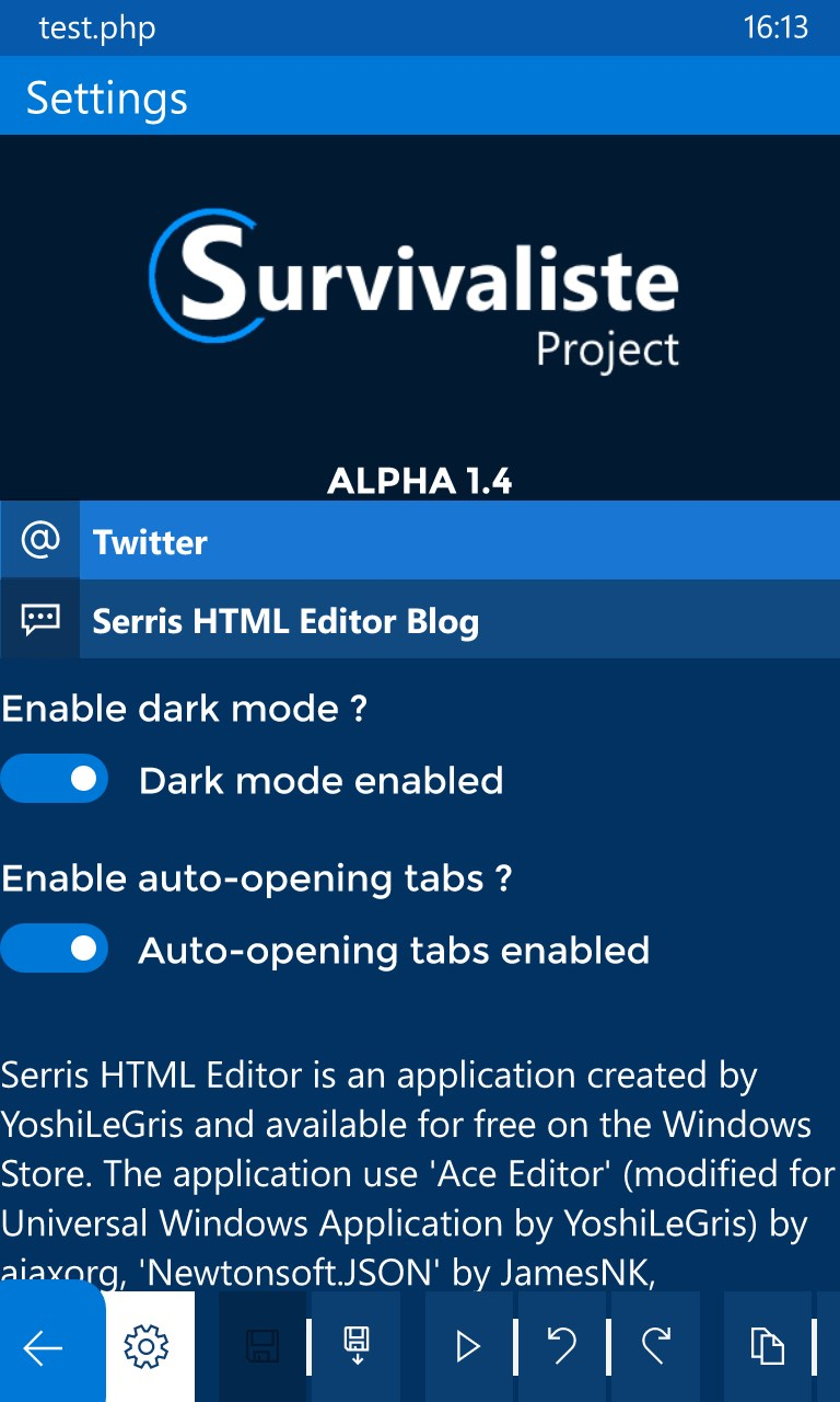 The HTML Editor For Windows 10 Mobile