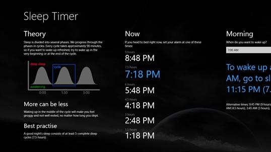 Win 10 Sleep Timer