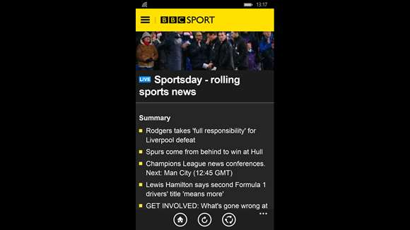 BBC Sport screenshot 1