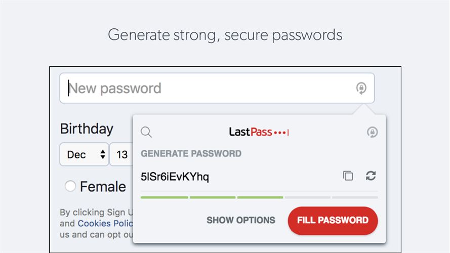 LastPass for Microsoft Edge Screenshot