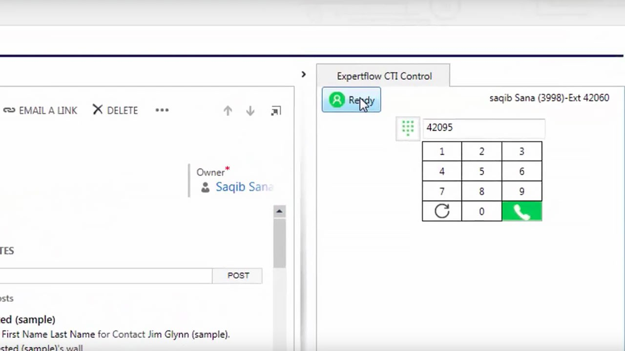 Cisco CTI Connector for Microsoft Dynamics CRM