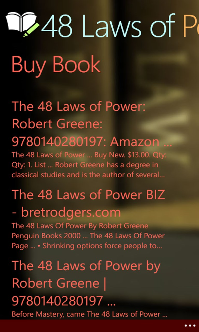 48 laws of power | free windows phone app market
