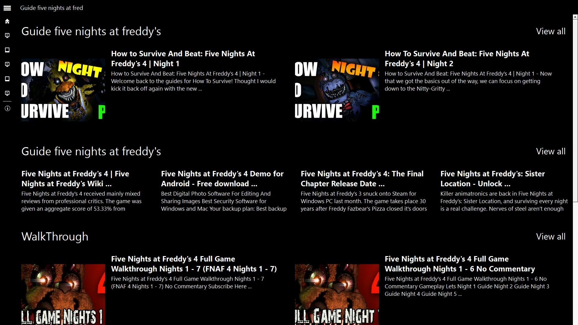 Five nights at Freddys UserGuide | FREE Windows Phone app market