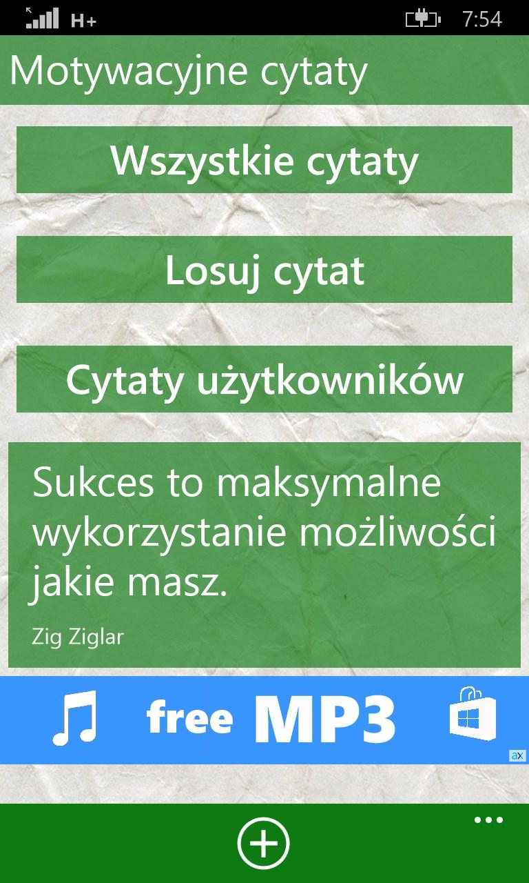 Motywacyjne Cytaty Free Windows Phone App Market
