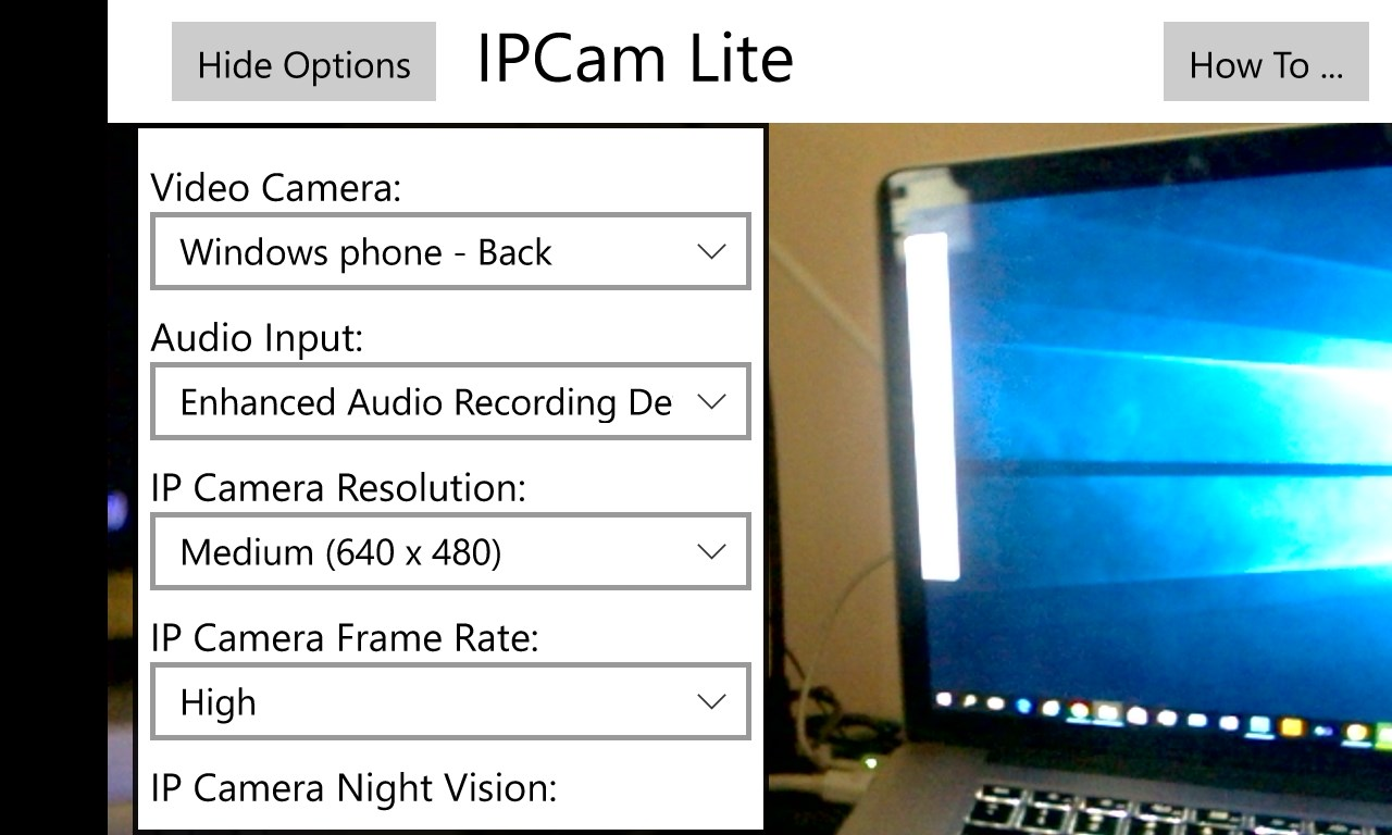 ipcam lite free windows phone app market. Black Bedroom Furniture Sets. Home Design Ideas