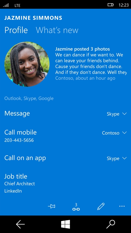 Messaging Skype Beta Screenshot