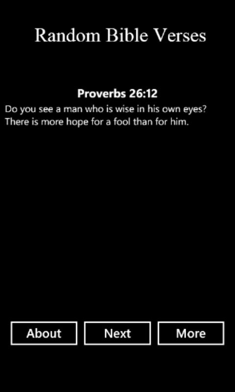 Random Bible Verses | FREE Windows Phone app market