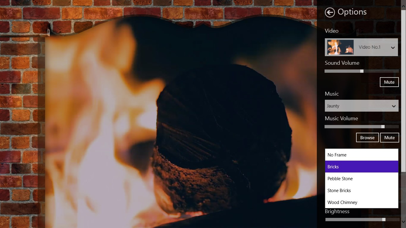 blurry fireplace for windows 10