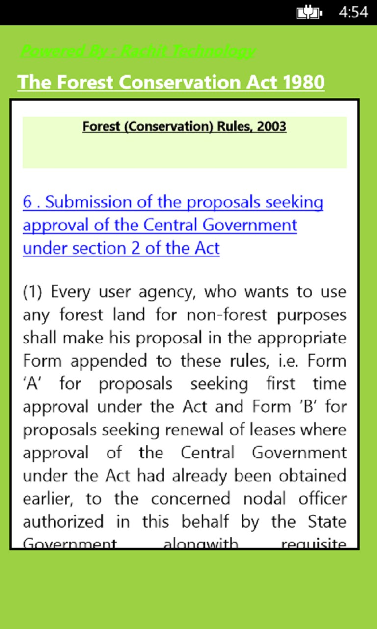 forest conservation act Jammu and kashmir forest (conservation) act, 1997 1 short title, extent and commencement 2 restriction on de-notifying of demarcated forest or de- reservation or use of forest land for non-forest purpose 3 constitution of advisory committee 4 penalty for contravention of the provisions of the act 5.