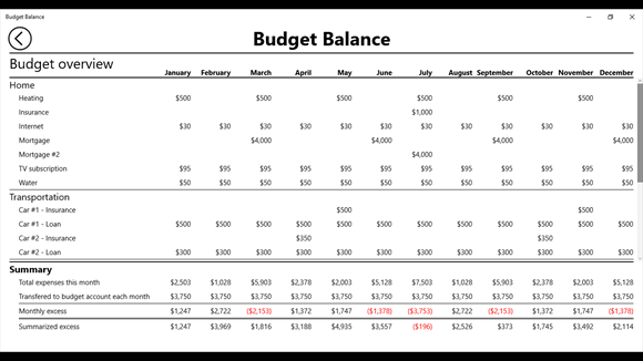 Budget Balance screenshot 1