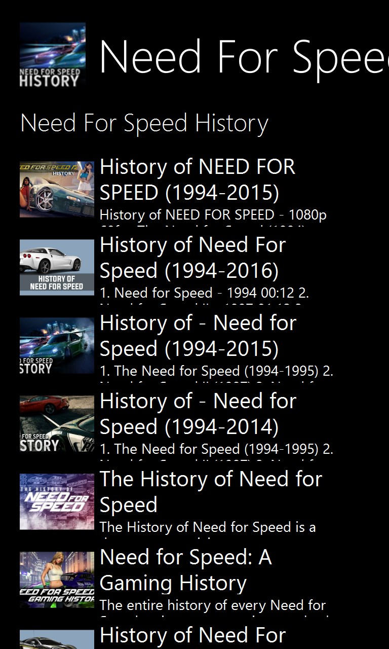 History Behind The Need For Speed