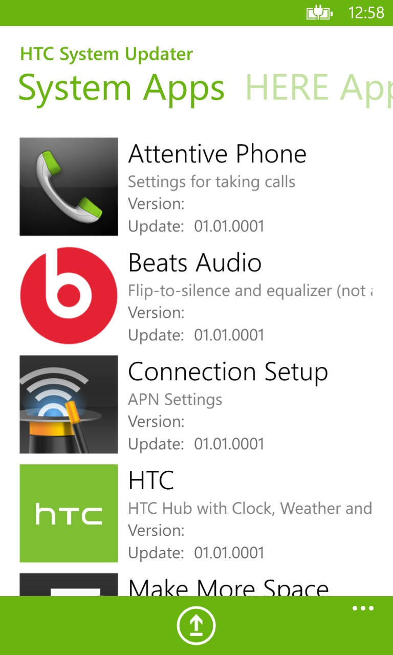 HTC System Updater for Windows 10 free download on Windows 10 App Store