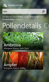 Pollenalarm Screenshot