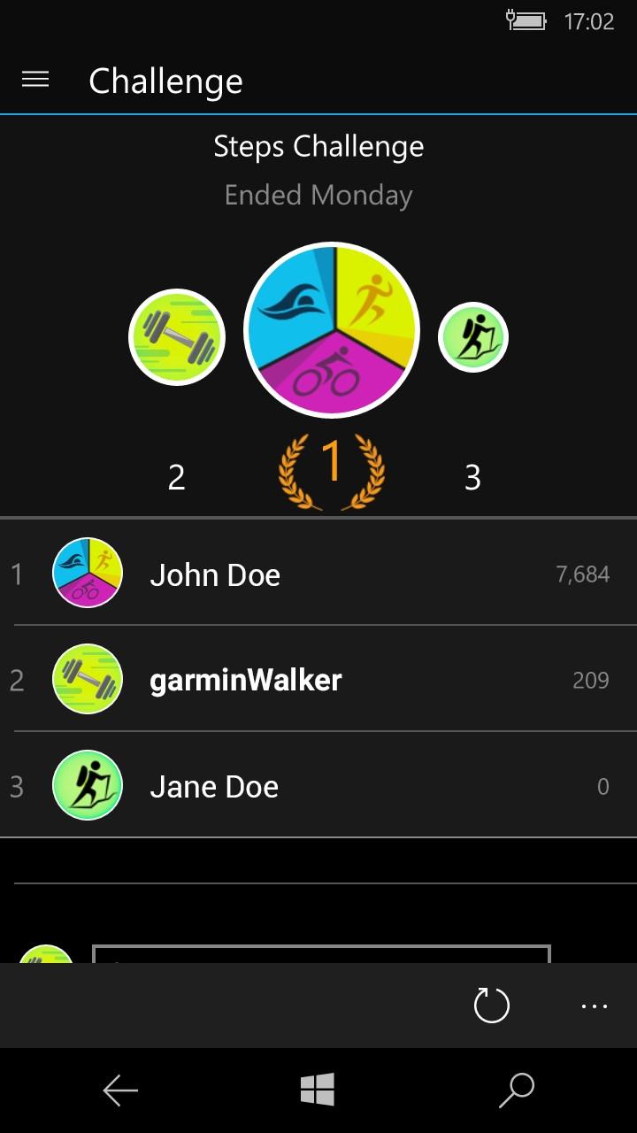 how to set step goal garmin connect