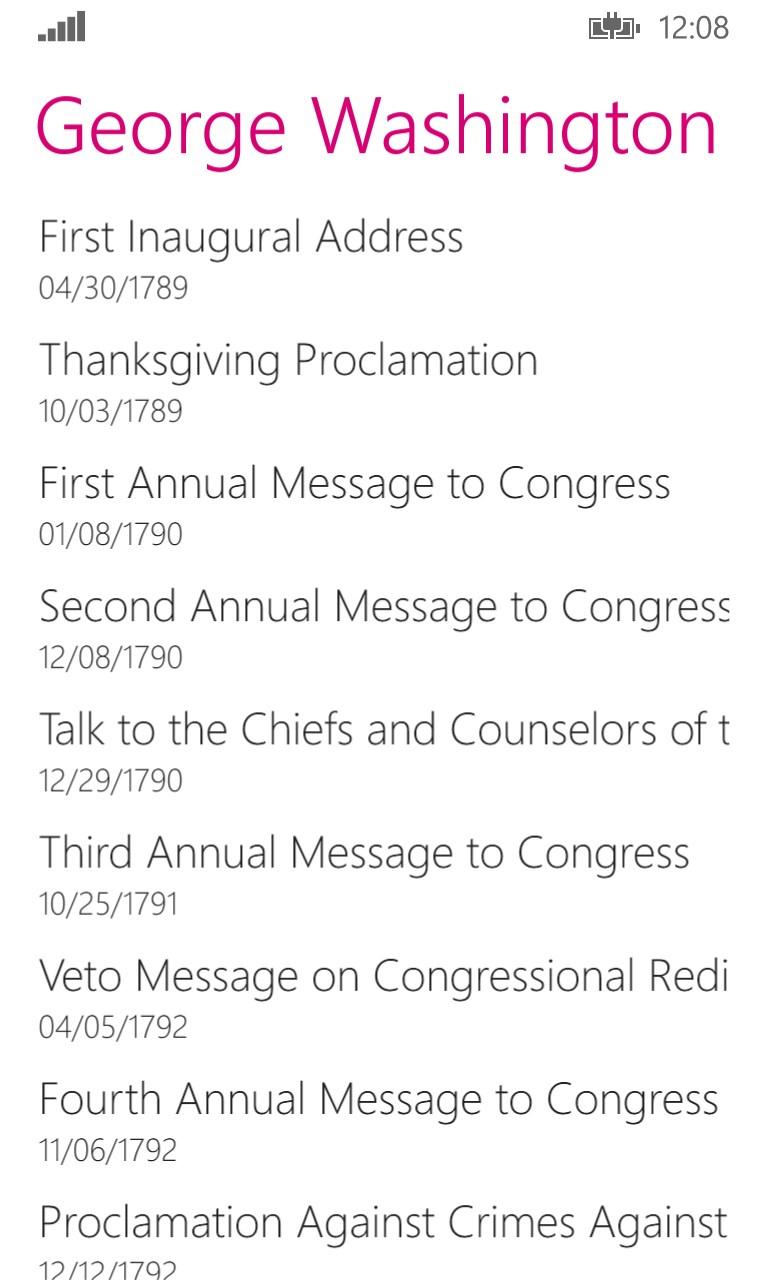 Presidential Speeches