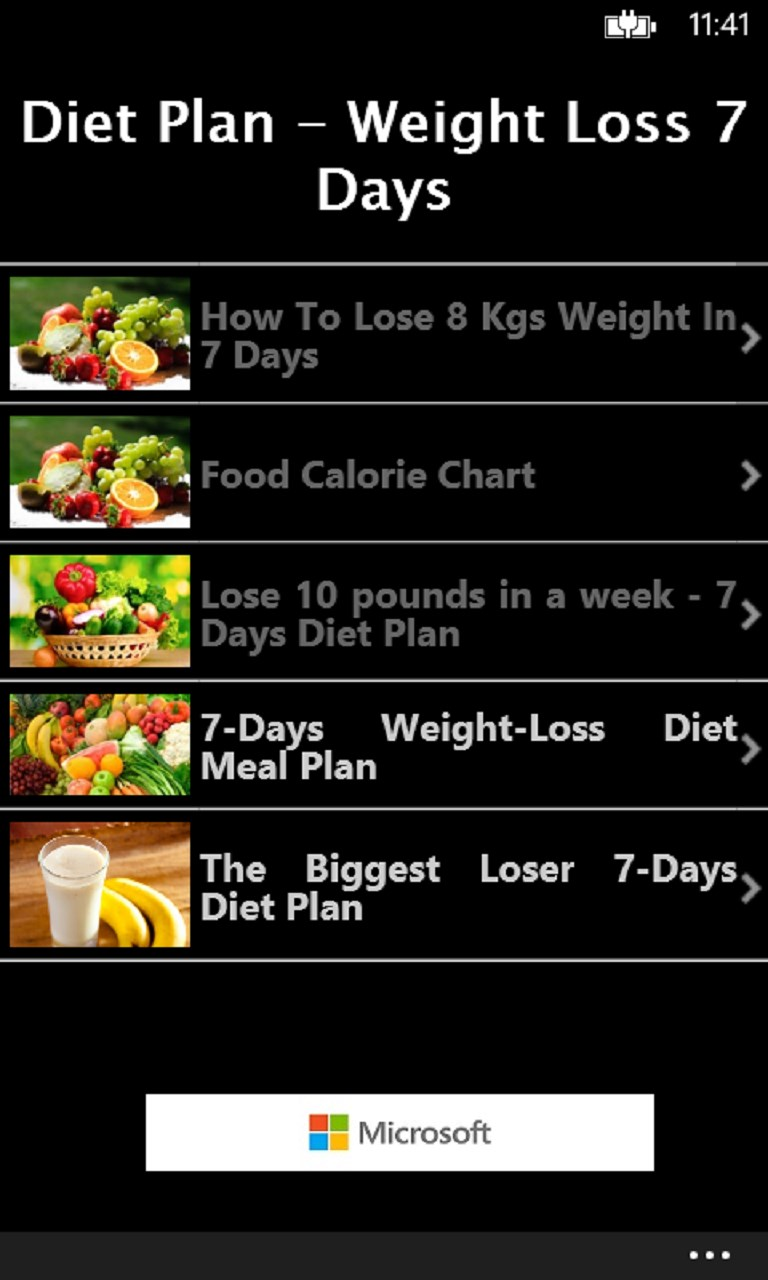 meal plan app for weight loss