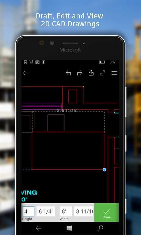 Autocad mobile dwg viewer editor cad drawing tools for Online cad editor