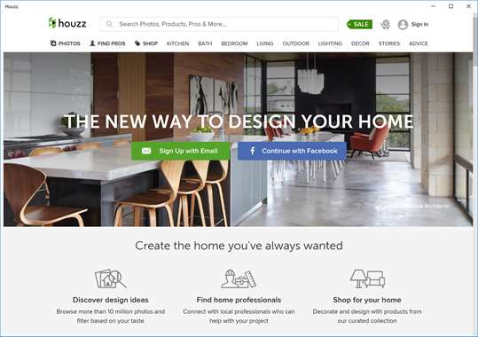 Houzz For Windows 10 Pc Free Download