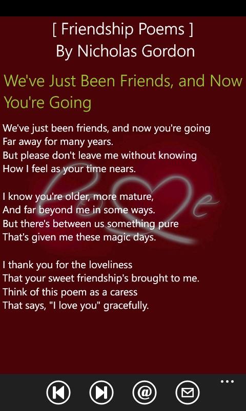 friendship poems free windows phone app market