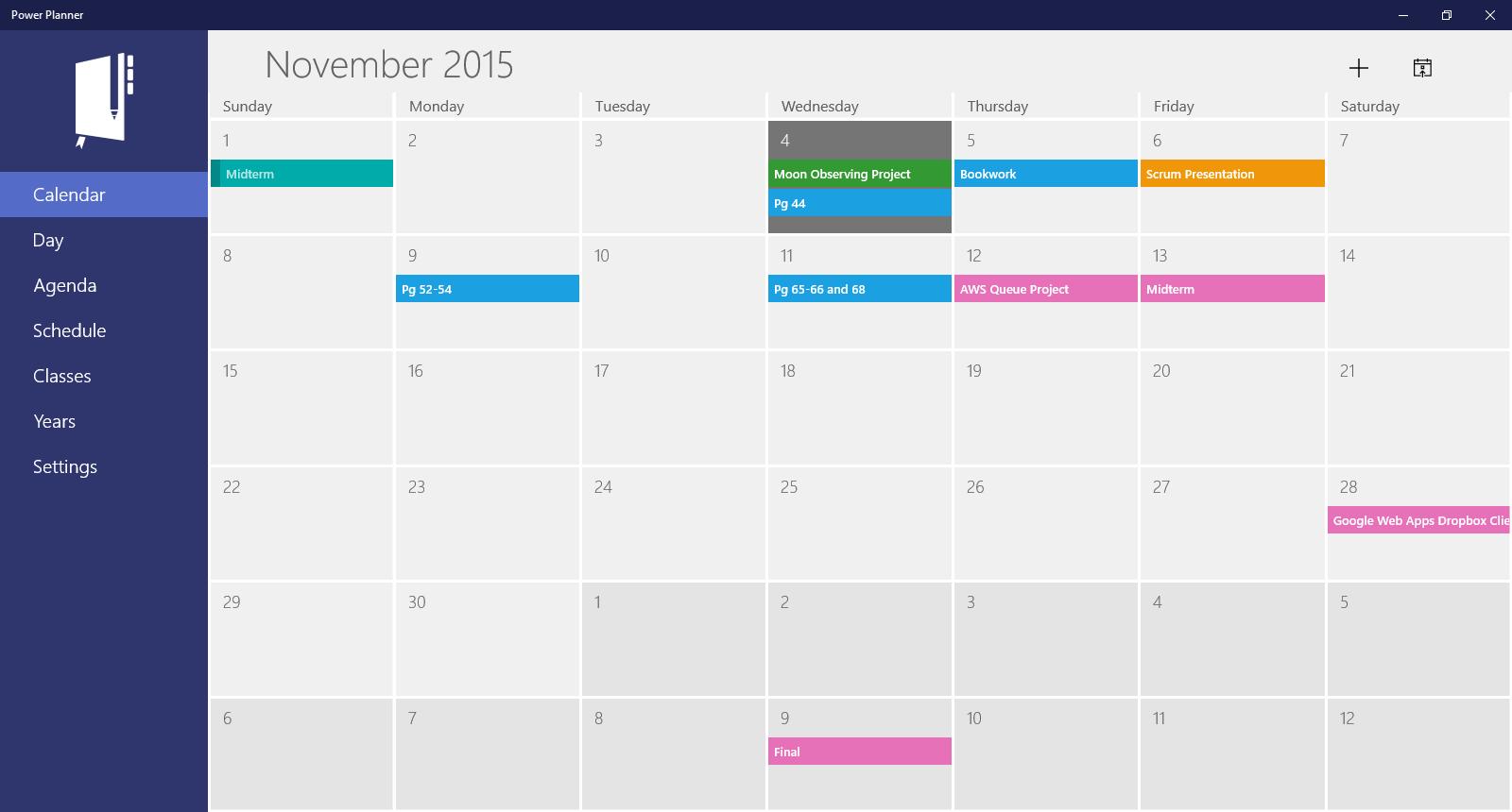 Power planner free windows phone app market for Tile planner app