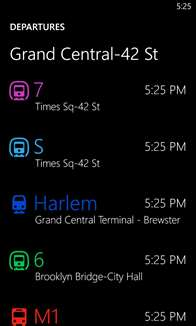 HERE Transit Screenshot