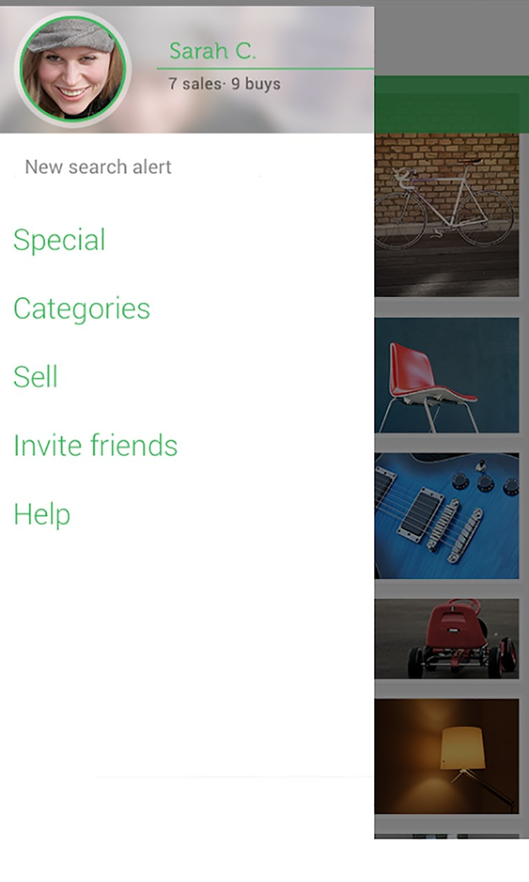 Shpock free windows phone app market for Apps similar to poshmark