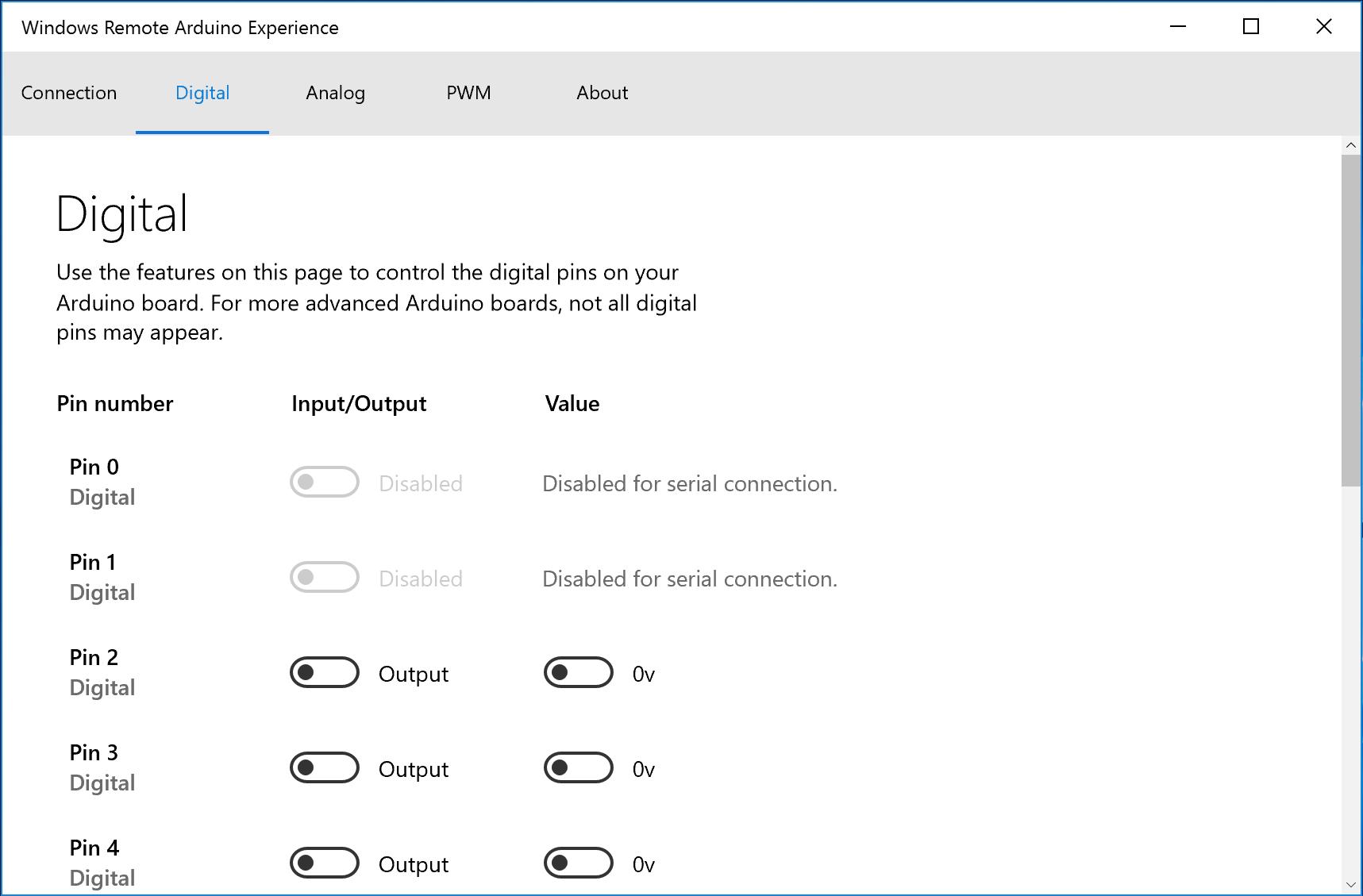 Windows Remote Arduino Experience