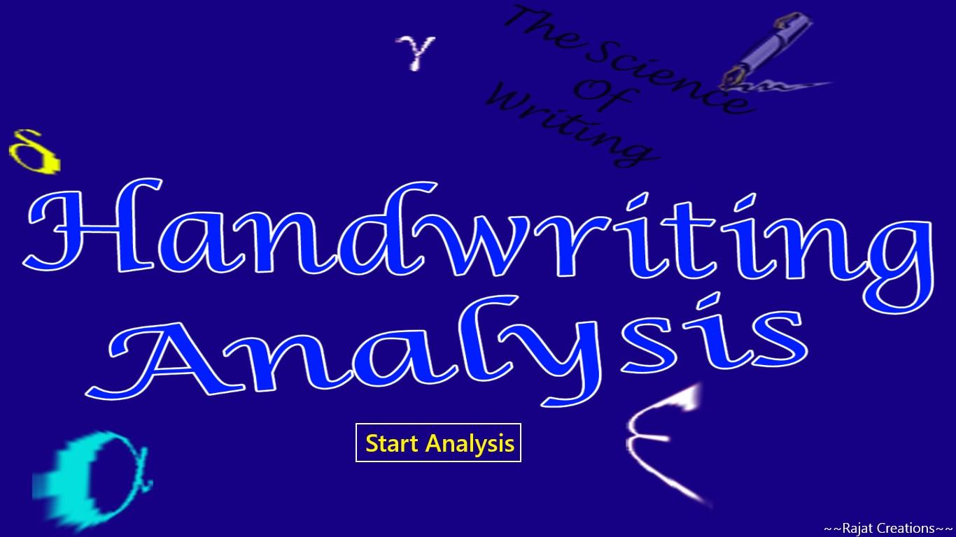 Handwriting analysis app