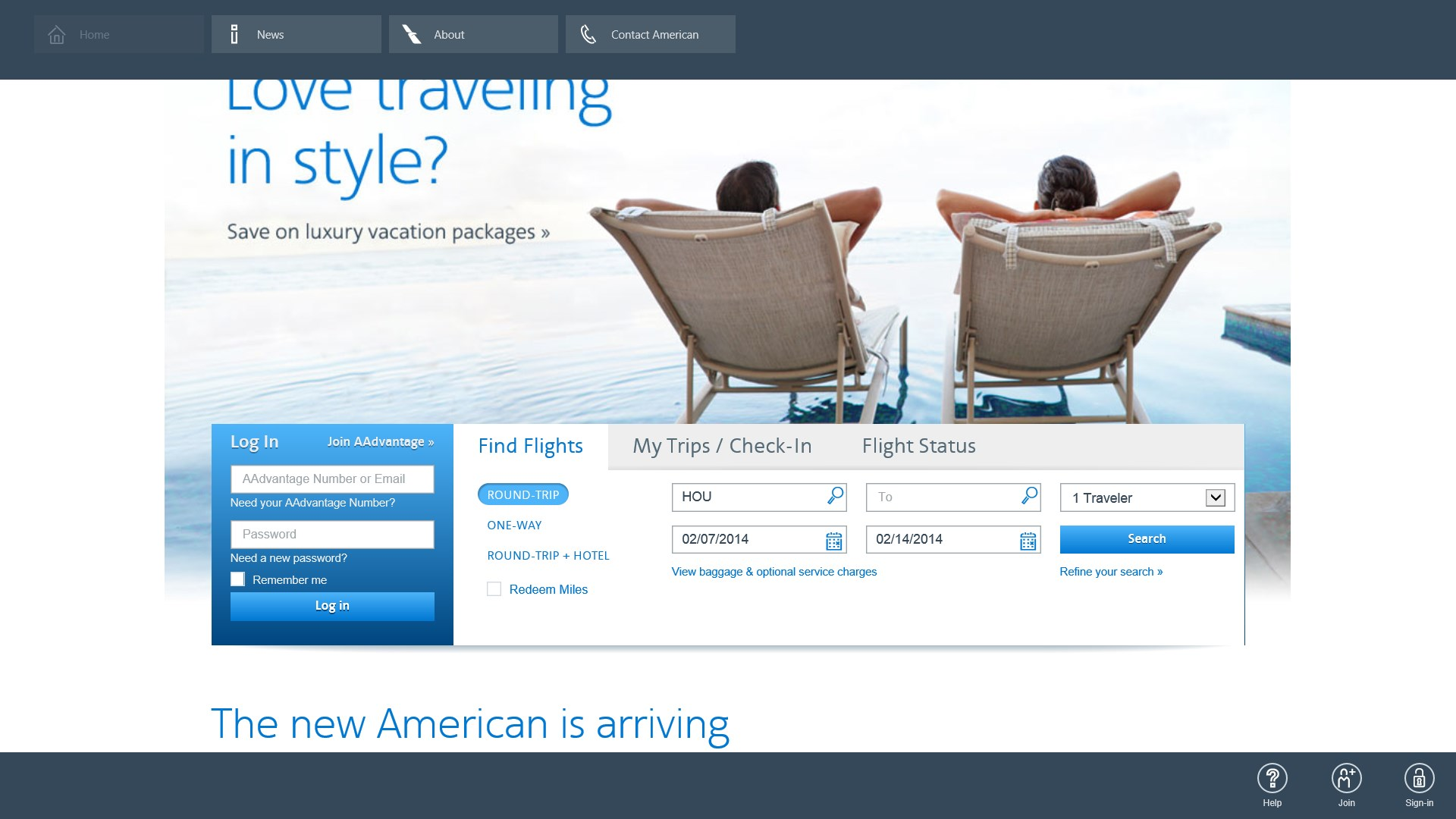 American Airlines for Windows 10 free download on Windows 10 App Store