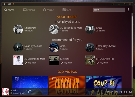 VLC for Windows Store Screenshot