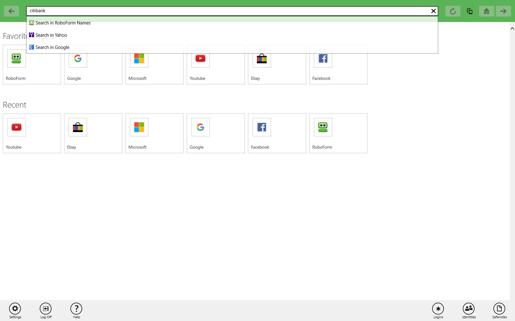 RoboForm for Windows Phone / RT
