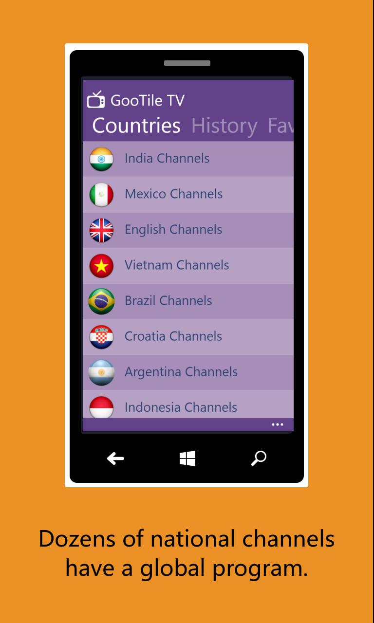 Gootile Tv Free Windows Phone App Market