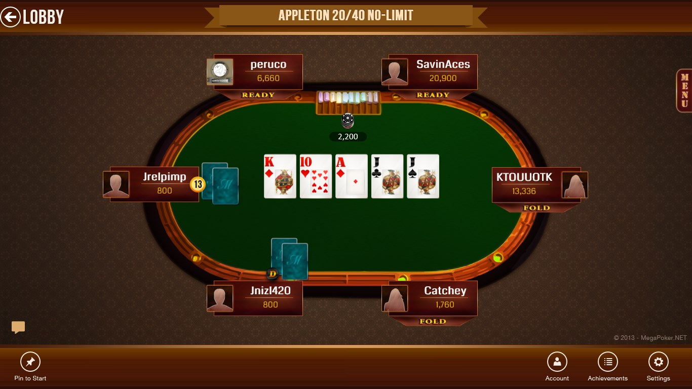 Die Beschreibung von Mega Hit Poker: Texas Holdem massive tournament