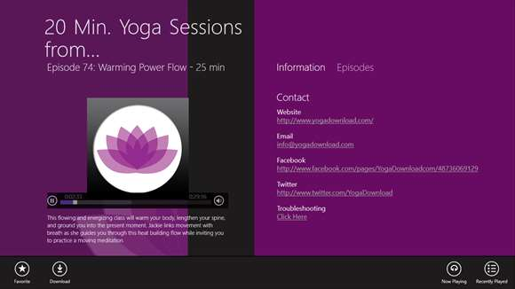 20 Min. Yoga Sessions from YogaDownload.com screenshot 1