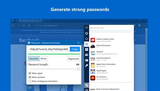 1Password screenshot 3