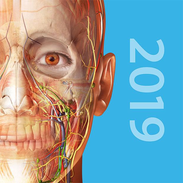 Atlas de anatomía humana 2019: Cuerpo humano completo en 3D