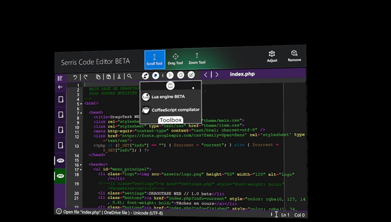 Serris Code Editor