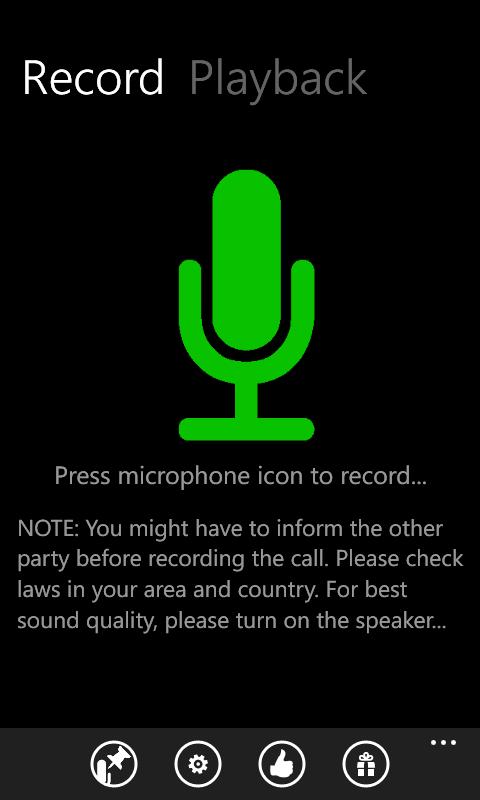 call recorder для windows phone