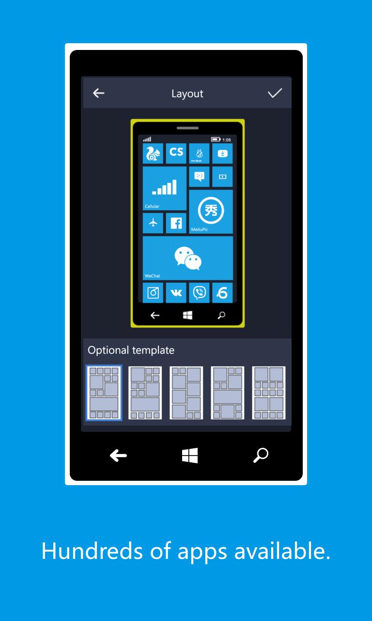 Gootile desktop free windows phone app market for Tile planner app