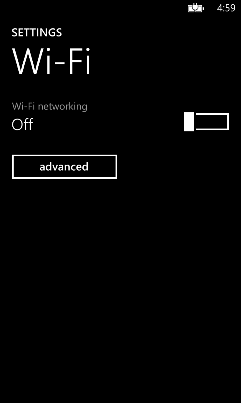 WiFi On∕Off