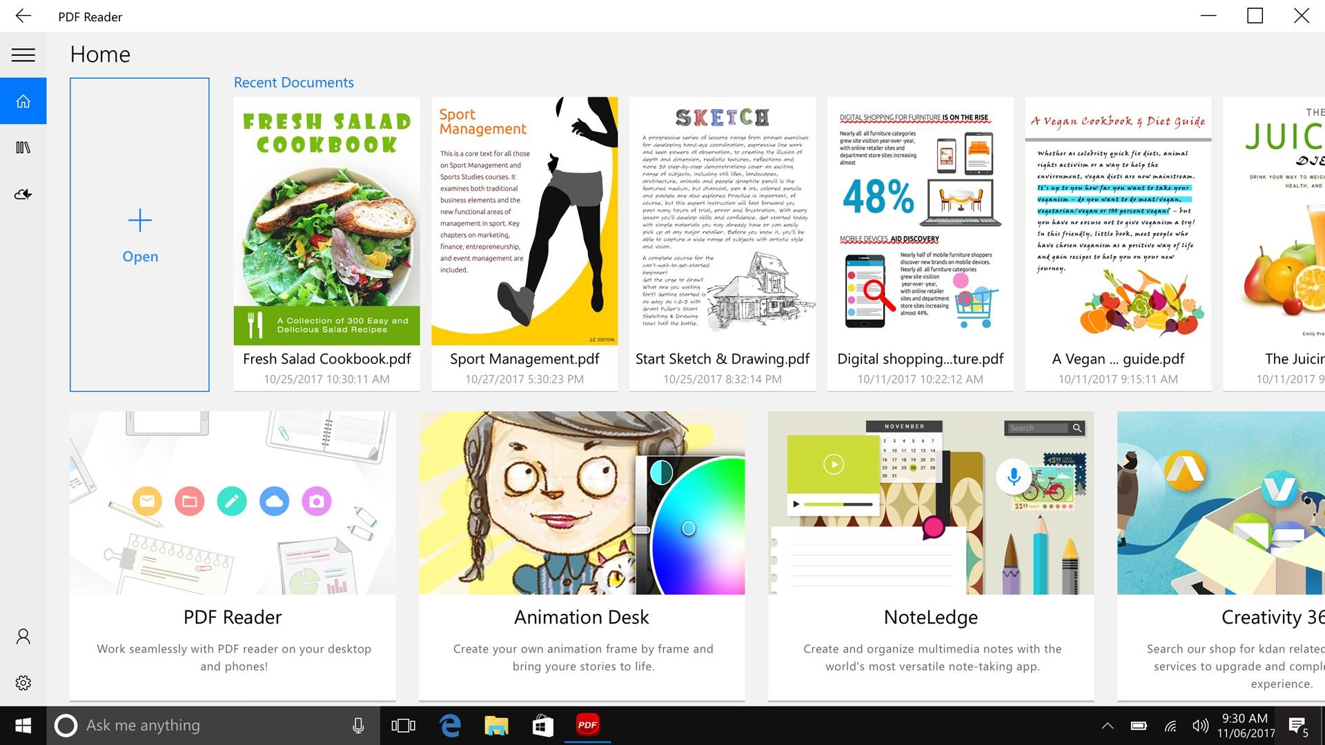 windows free pdf reader edit