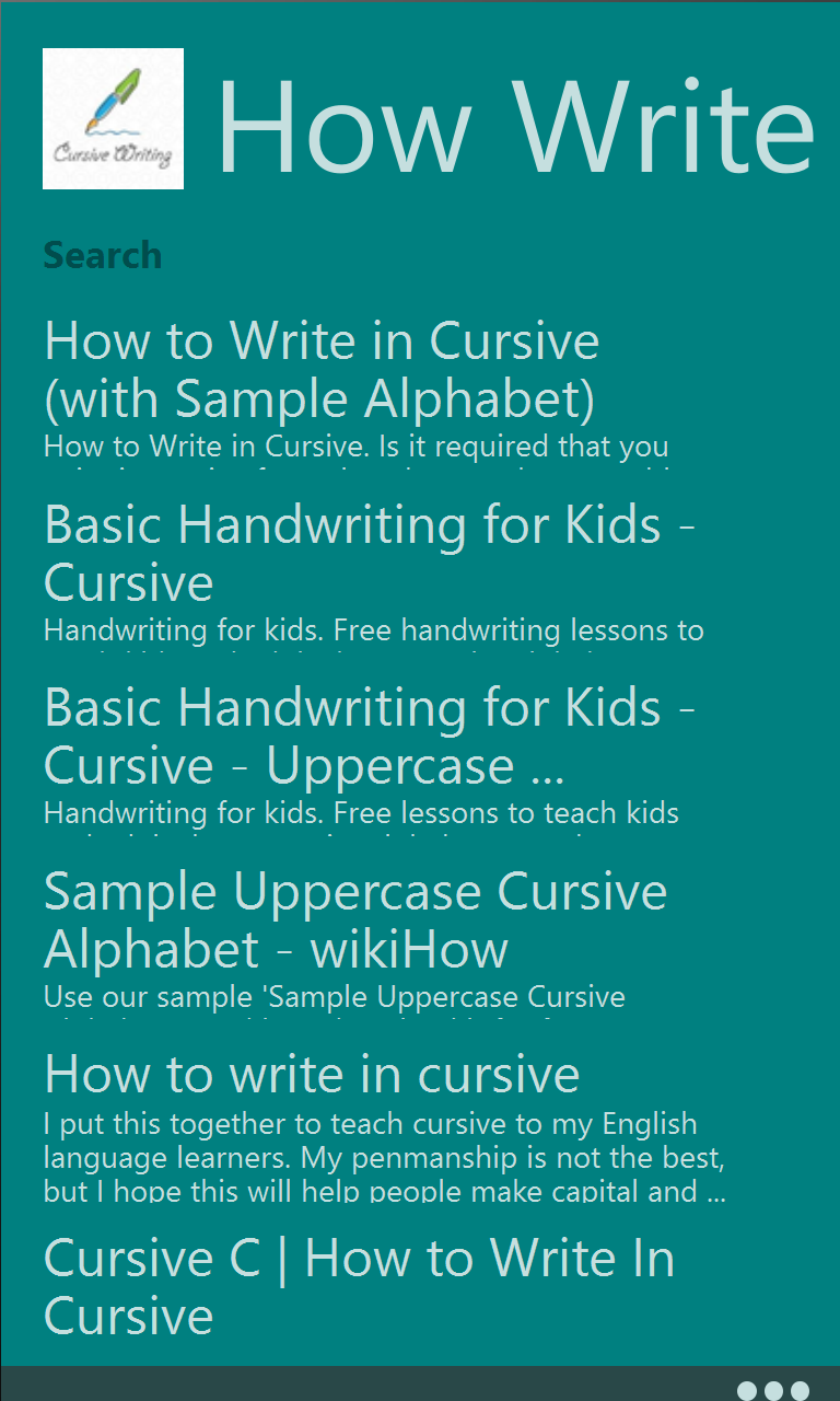 Cursive writing app download