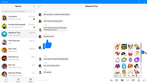 Messenger (Beta) Screenshot