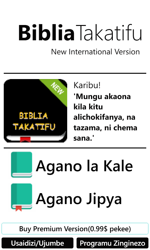 Biblia Takatifu Swahili Bible Free Windows Phone App Market