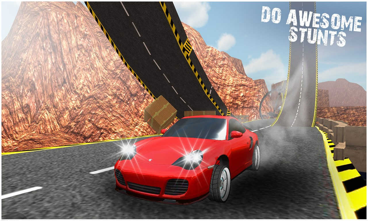 Car Stunts: Crazy Car Stunts 3D - Extreme Racing Car Drifts