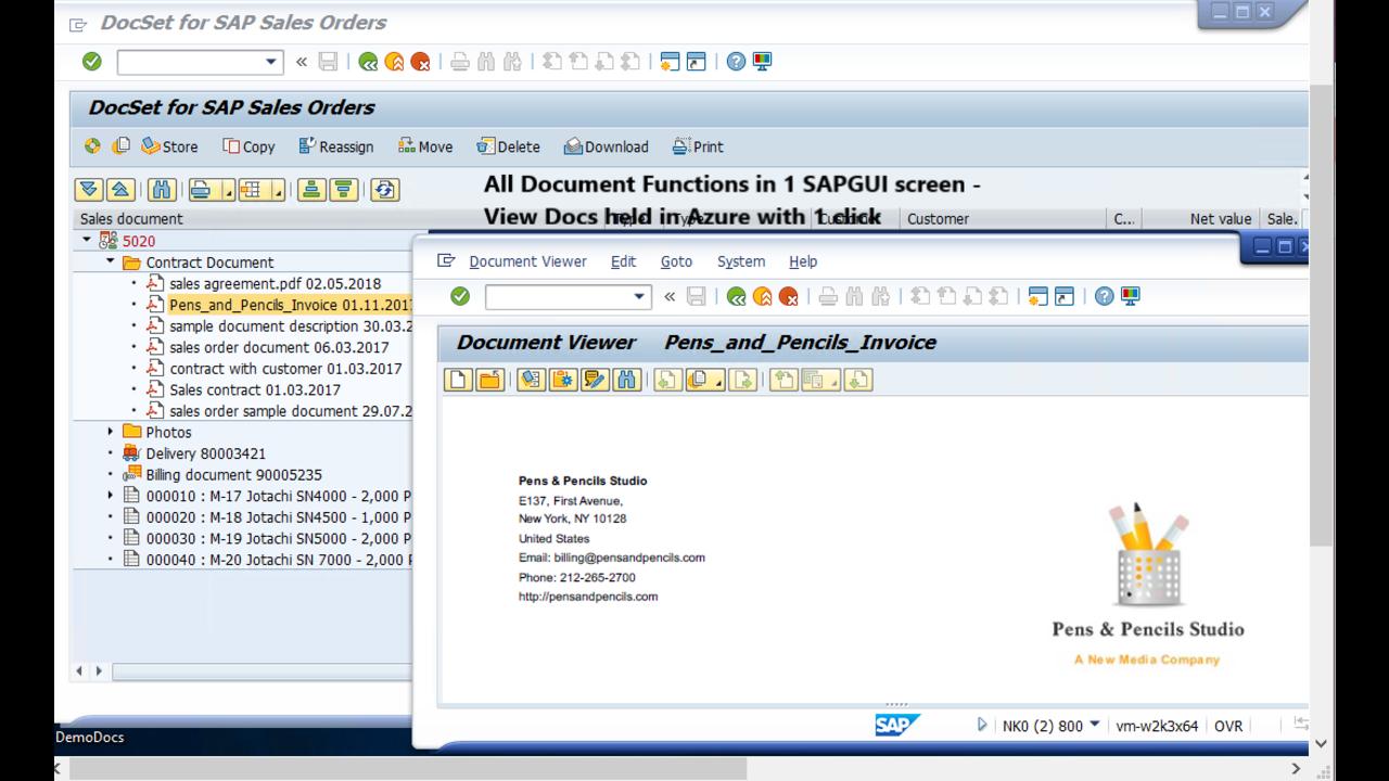 Azure Content Services Platform for SAP