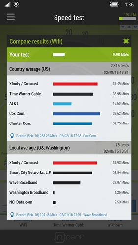 nPerf speed test Screenshot