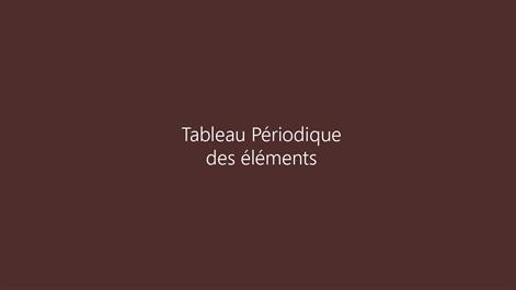 Buy tableau p riodique des l ments microsoft store for Tableau periodique