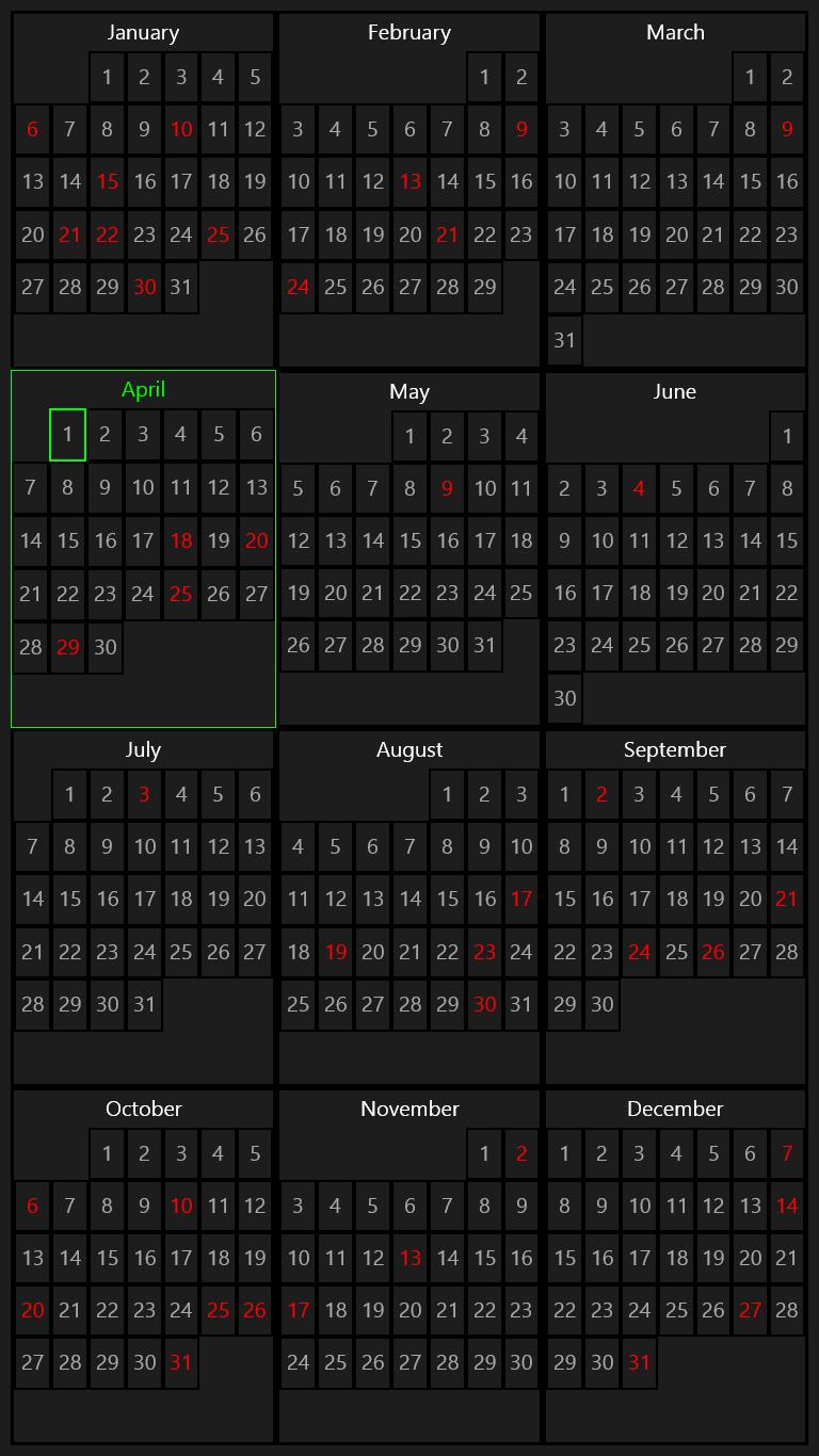 Calendar Lockscreen : Birthday calendar for windows